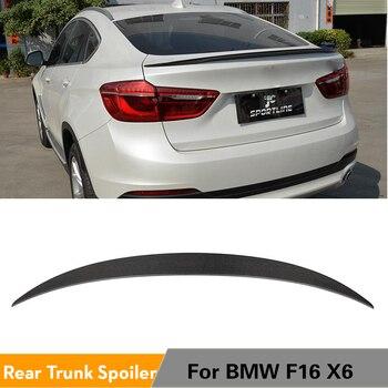 Para BMW X6 F16 xDrive Series SUV Base y M Sport 2015 - 2017 fibra de carbono alerón trasero maletero alas estilo de coche