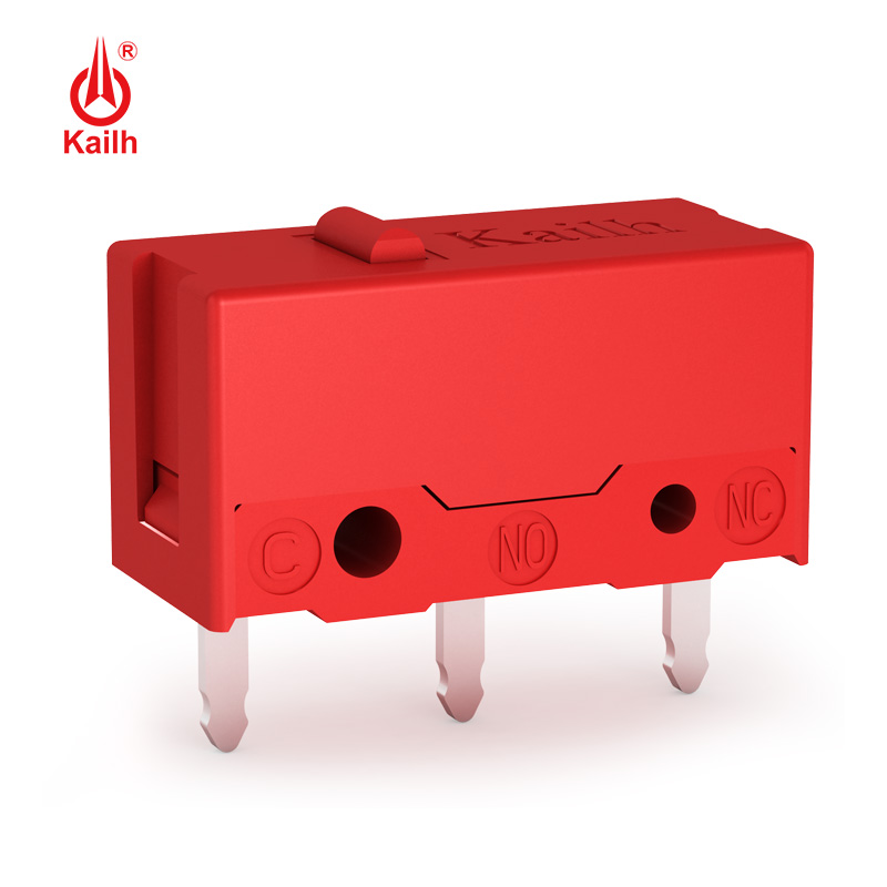 8pcs Kailh micro switch 60M life  gaming mouse Micro Switch 3 Pin red dot used on computer mice left right button MI126601D01
