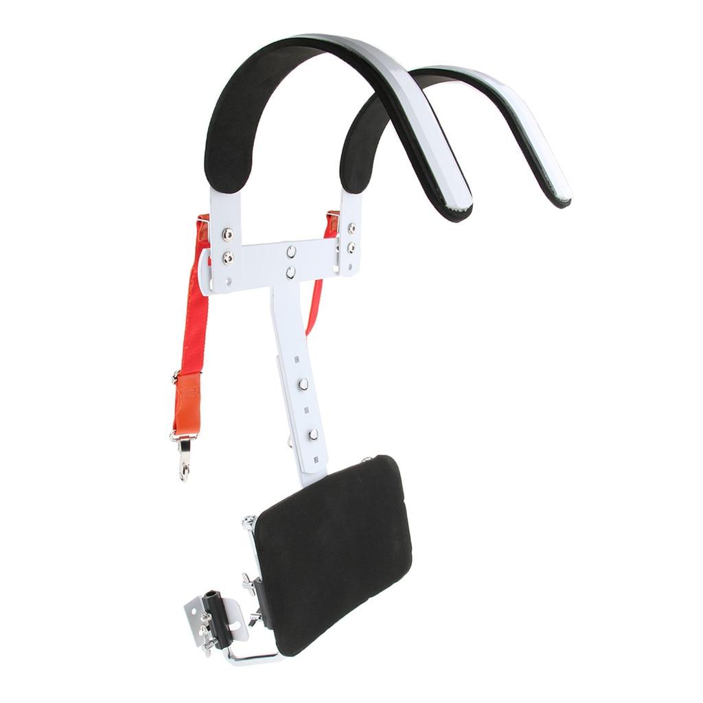 Caisse claire porteur grosse caisse bandoulière harnais Percussion Instrument ceinture, blanc