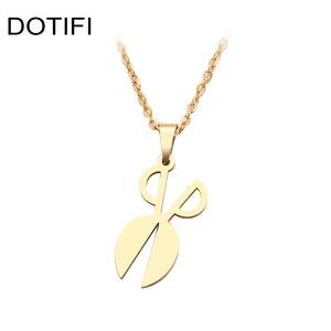 DOTIFI, ожерелье из нержавеющей стали для женщин, мужчин, ножницы, острое колье, ожерелье с кулоном, ювелирные изделия для помолвки