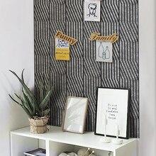 Ins креативная фетровая самоклеющаяся 3D стерео Наклейка для украшения стен доска для сообщений фото стена 9 мм фетровая ткань Manualidades