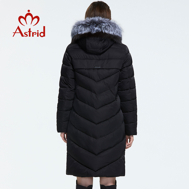Astrid 2019 hiver nouveauté doudoune femmes avec un col en fourrure vêtements amples vêtements d'extérieur qualité femmes hiver manteau FR-2160 4