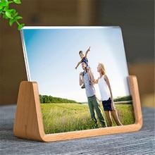 Cadre Photo en bois massif européen créatif innovant 5 pouces 6 pouces 7 pouces acrylique en forme de U cadre Photo décoration de bureau à la maison