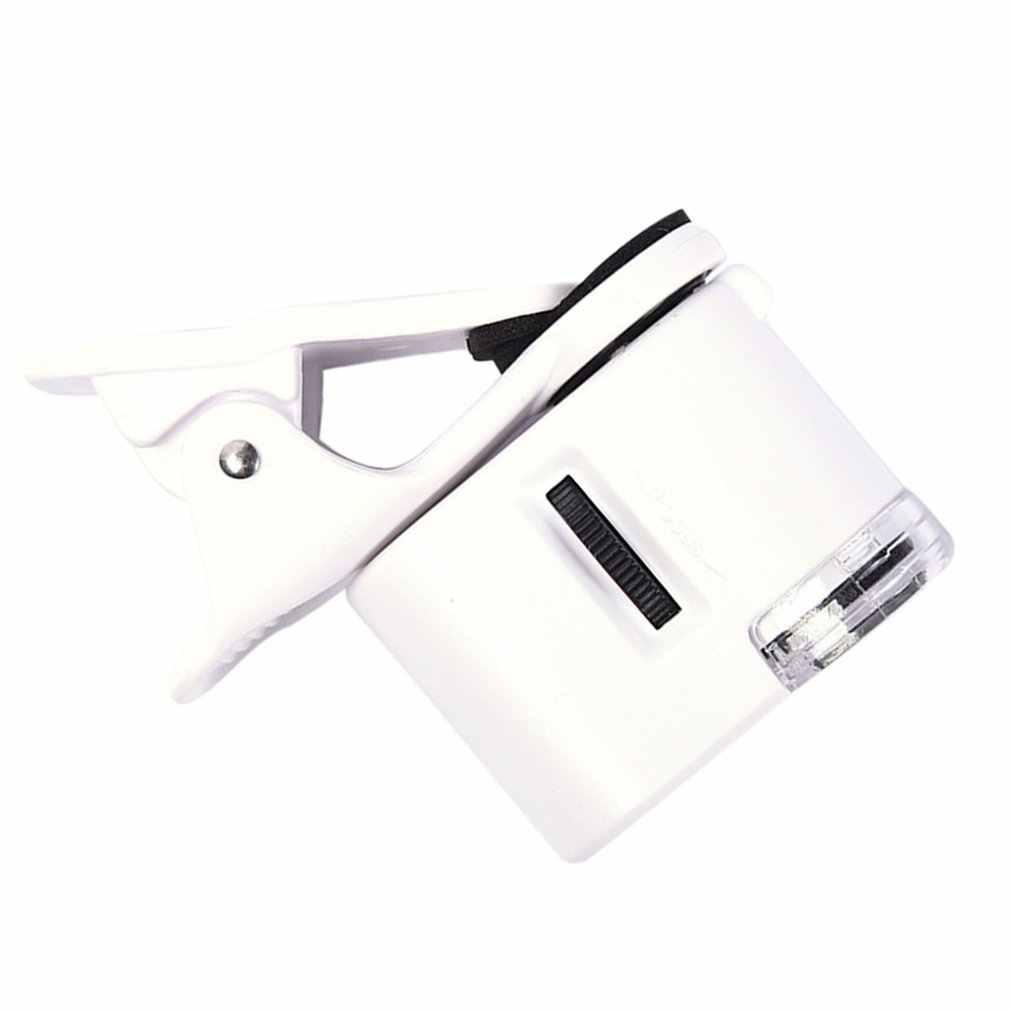 携帯電話 60X マクロレンズ HD 電話顕微鏡ユニバーサルクリップ外部ズームレンズ Iphone サムスンとスマートフォン