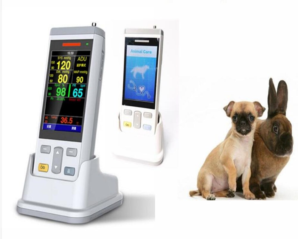 Cat/dog Veterinary Vital sign monitor with NIBP/SPO2/TEMP/PR  animal use vital sign monitor