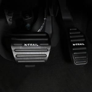 Image 3 - 알루미늄 합금 자동차 발 연료 페달 가속기 브레이크 페달 패드 커버 AT 닛산 X 트레일 X 트레일 T32 2014 2019 액세서리