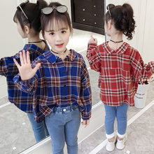 Girls Plaid Blouse 2019 Spring Autumn Turn-down Collar Teenager Shirts Cotton Shirts Casual Clothes Child Kids Long Sleeve 4-13T girls plaid blouse 2019 spring autumn turn down collar teenager shirts cotton shirts casual clothes child kids long sleeve 4 13t