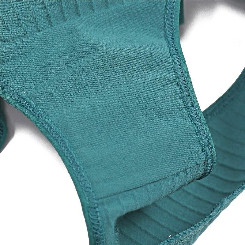 H8b11a8b3a083447199b0bcbf19361872M Ropa interior de algodón suave para mujer, calzoncillos de colores sólidos a rayas, lencería Sexy para mujer, M-XL íntima