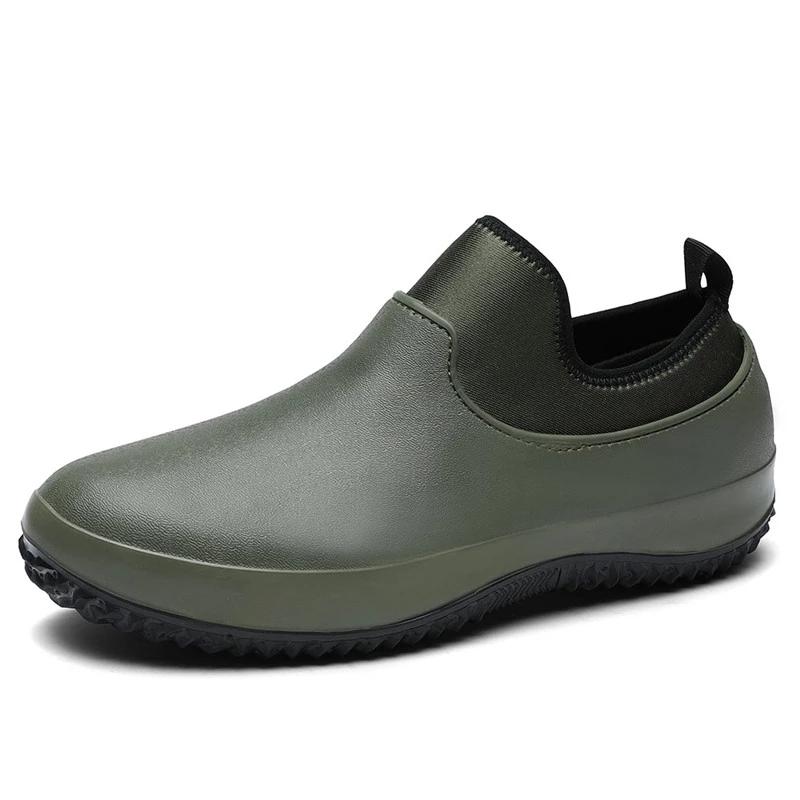 Men Slip On Resistant Oil-proof Kitchen Shoes Chef Multifunctional Restaurant Garden Waterproof Safety Work Medical Shoes