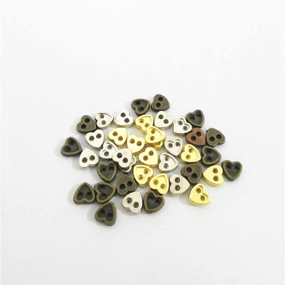 TINY METAL DOLL BUTTONS~SILVER~5MM~TWO HOLE~BY THE DOZEN~DOLL CLOTHES