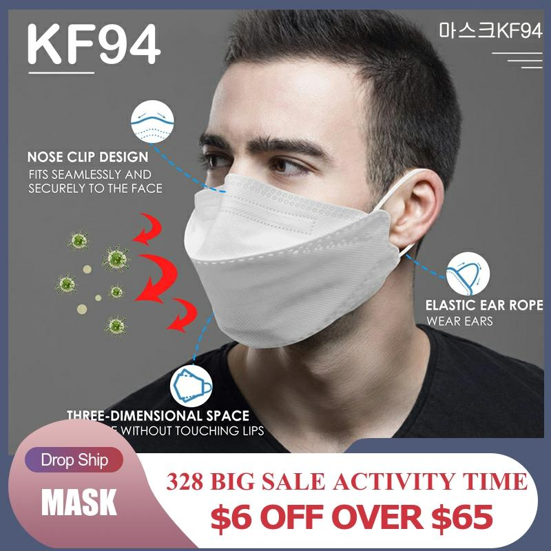 마스크kf94 100pcs Face Mask 4 Layer Mask Non-woven Breathable Anti Dust Mouth Nose Covers Face Mouth Mask Protection Against Dust