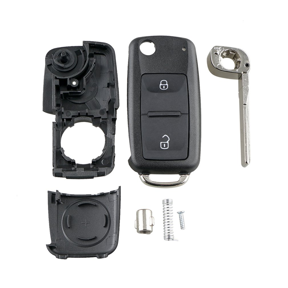 Fob-Shell Case Volkswagen Transporter 2-Button Remote-Key-Replacement Polo-G Uncut Flip title=