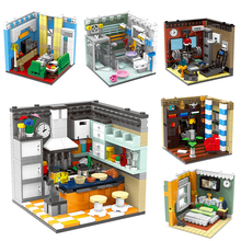 Room Furniture Decoration Building Blocks Scene Living House Set Bricks Educational Toys Compatible with blocks toys lepin 17006 928pcs kirk s house rare limited edition model building kits set blocks bricks lepins toys clone 4000007