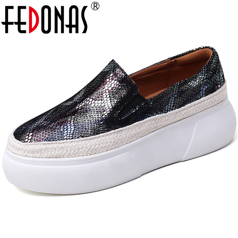 FEDONAS Color Mixing Spring Summer New Round Toe Women Flats Fashion Shoes Woman Sheepskin Leather Elastic Band Shoes Woman