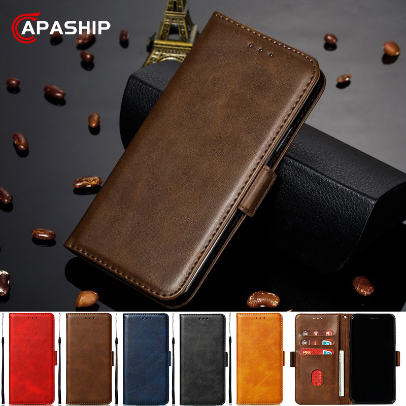 Luxury Cowhide Leather <font><b>Flip</b></font> <font><b>Case</b></font> For <font><b>Samsung</b></font> Galaxy J4 J6 Plus J2 J8 2018 J3 <font><b>J5</b></font> J7 Pro <font><b>2017</b></font> J330 Retro Wallet Cover G530 <font><b>Cases</b></font> image