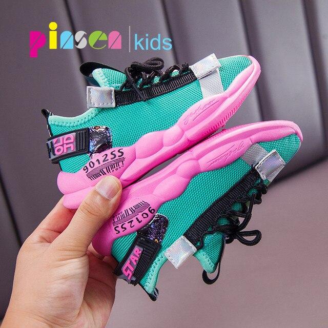 PINSEN 2019 Neue Herbst Turnschuhe Mädchen schuhe Kinder Schuhe Jungen Mode Casual Kinder Schuhe für Mädchen Sport Laufschuhe Kind Schuhe
