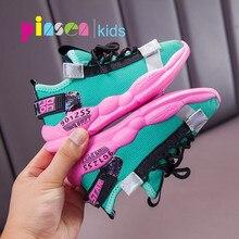 PINSEN 2019 Nova Outono Sapatilhas sapatos Meninas Crianças Sapatos Meninos Moda Infantil Sapatos Casuais para o Esporte Menina Criança Correndo Sapatos