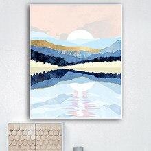 YIJIE Sunrise impression Peinture par Numéro Cadeau sur Toile Numérique Sans Cadre BRICOLAGE Acrylique Mur Photo Pour La Décoration De La Maison Art