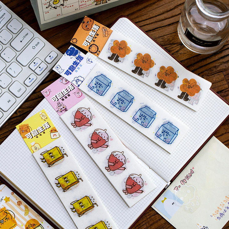 10 Pcs/lot Cute And Interesting Life Series Bullet Journal Decorative Stickers Scrapbooking Stick Label Diary Stationery Album