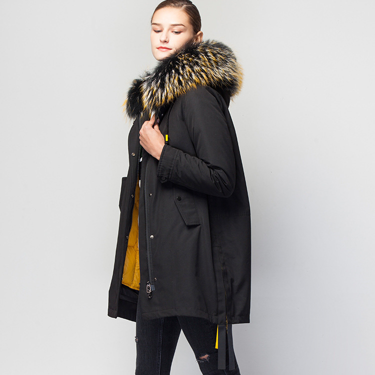 in Europe and the new winter women's sent to overcome the loose hooded bump color long 90 white duck   down     coats   women