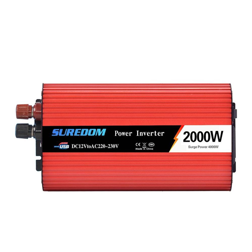 2000W Inverter Auto Power Converter 12V Zu 220V Auto Inverter Solar Power Converter Handy Lade