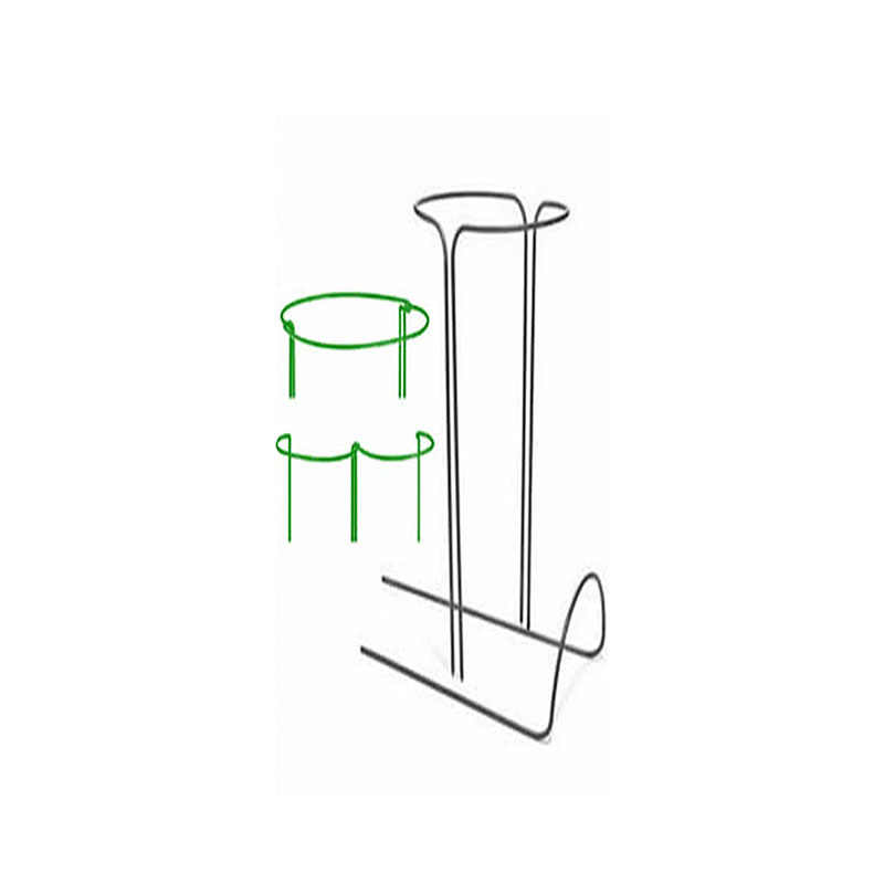 2pcs Half Round Plant Support Ring Garden Tool Solid Steel Rust Semi-Circular Plant Border Support Wire Hoop Plant Support Frame