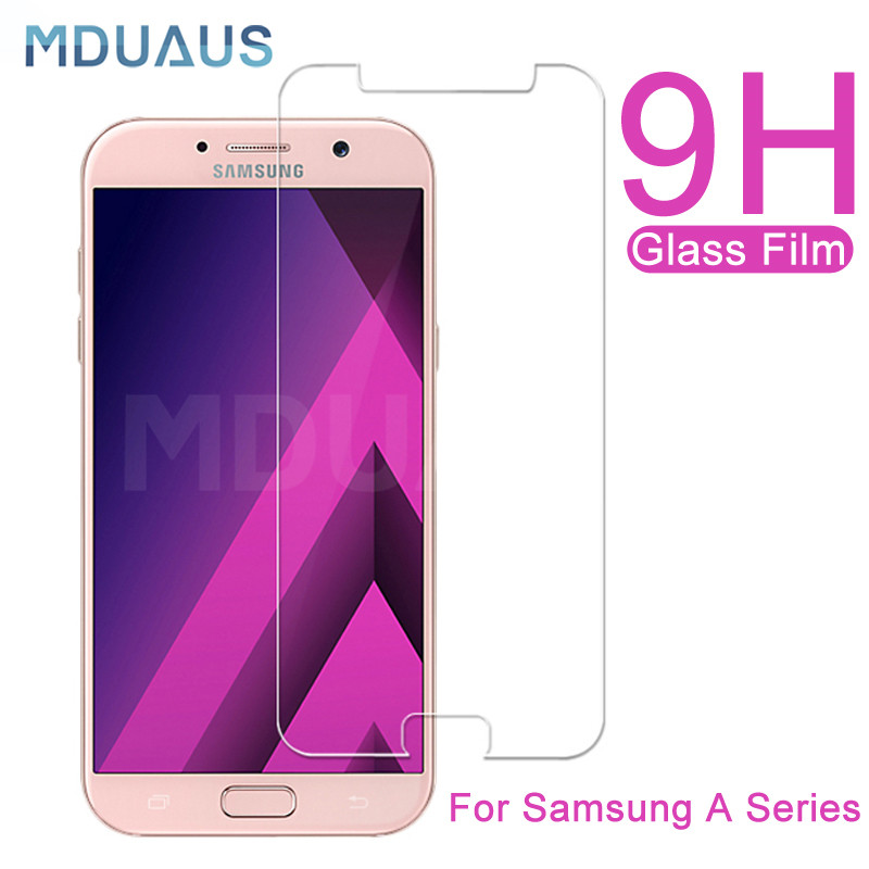 9H Tempered Protective Glass On The For Samsung Galaxy A7 A5 A3 2015 2016 2017 A6 A8 Plus A9 2018 Screen Protector Glass Film