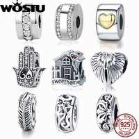 100% 925 Sterling Silver & Gold Color Love Of My Life Clip Beads Fit Original WOSTU Charm Bracelet Pendant Women Jewelry