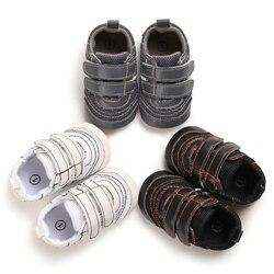 2019 Baby Jongens Patchwork Ontwerp Anti-Slip Sneakers Soft Sole Baby Schoenen Herfst Mode Peuter Zachte Zolen PU Schoenen