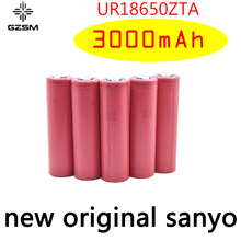 GZSM 18650 battery for Sanyo UR18650ZTA 3000mAh 3.7V 6A rechargeable For flashlight