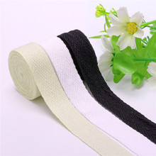 Natural White Black Ribbon 10/15/20/2530/40/50mm Cotton Ribbon Herring Bonebinding Tape Lace Trimming Packing DIY Accessories