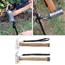 Senderismo tienda de campaña mazo martillo clavija estaca tirador Metal/cobre cabeza-mango de madera