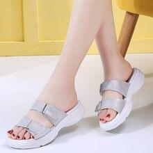 Женские летние слиперы женские пляжные сандалии из спилка на