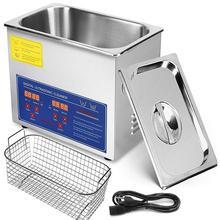 Ультразвуковой очиститель 6L всего 380W из нержавеющей стали промышленный ультразвуковой очиститель ювелирных изделий очиститель с таймером нагревателя(6L