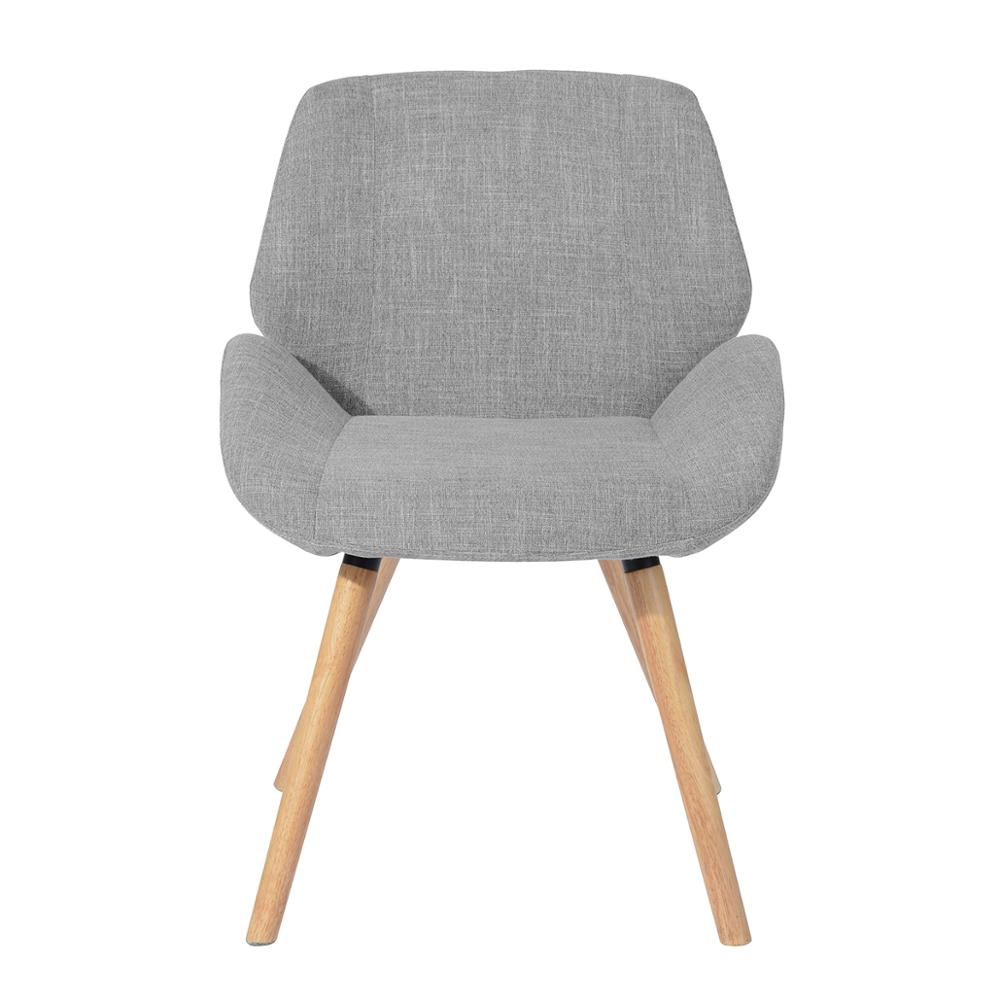 EGGREE Set Of 2 PCS Hayo Fabric Shell Dining Chair For Living Room, Dining Room And Bedroom - Grey