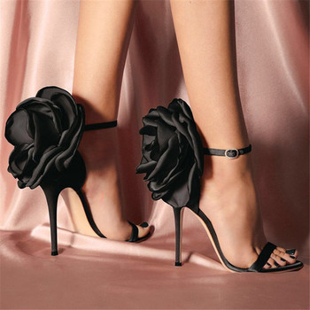 Cute Flower Decor Stain Women Sandals 10 High Heel Shoes Woman Summer Gladiator Sandal Ankle Strap Ladies Shoes