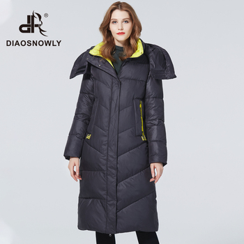 Diaosnowly 2020 winter jacket women coat warm plus size brand fashion hooded jackets long for clothes and outwear