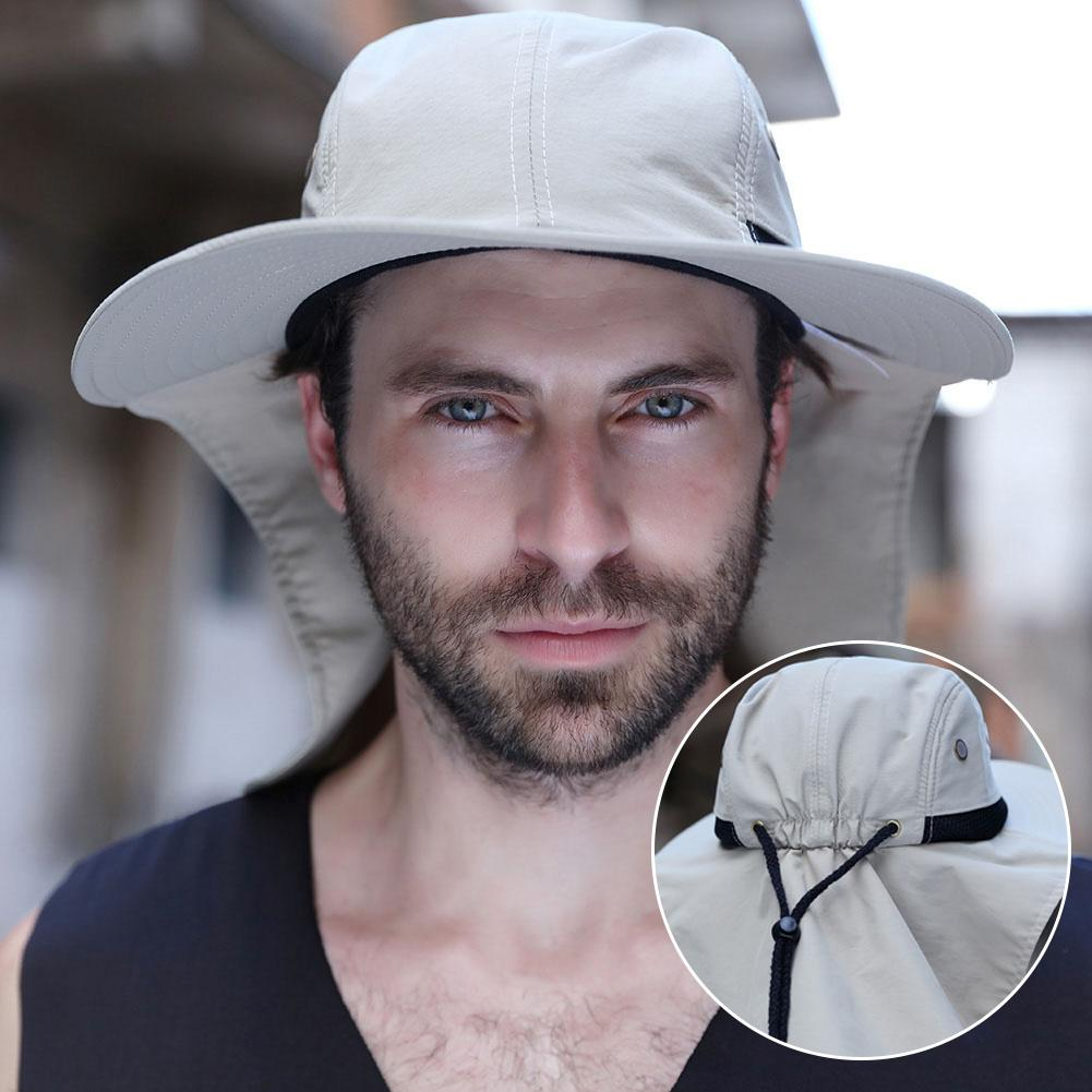 Unisex Breathable Sun Protection Hat UV Protection Face Neck Flap Sun Cap Face Man Sun Cap Summer Hat Work Casual Hat Summer