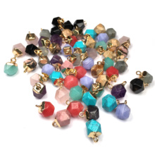 LE SKY New Geometric Shape Natural Stone Pendants for Jewelry Making Supplies Fashion & Necklace Women Men