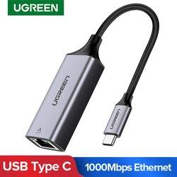 Ugreen USB C Ethernet USB-C Để RJ45 Lan Adapter Cho Macbook Pro Samsung Galaxy S9/S8/Note 9 loại C Card Mạng USB Ethernet