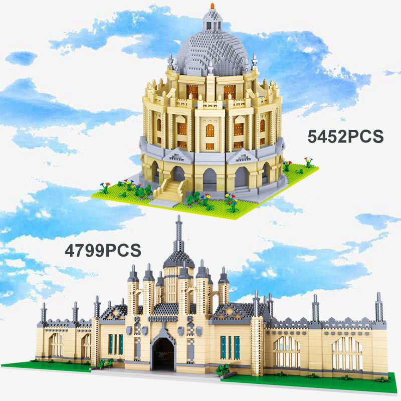 5452 Chiếc Nổi Tiếng Thế Giới Kiến Trúc Xây Dựng Thành Phố Cambridge Đại Học Oxford Gạch Mô Hình Đồ Chơi Giáo Dục Cho Trẻ Em Quà Tặng