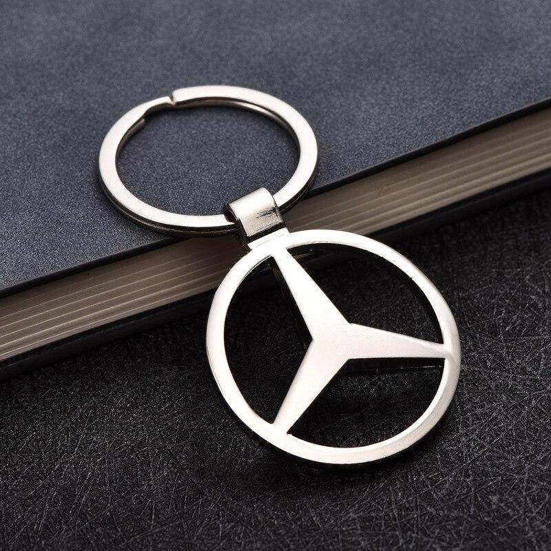 1 Pcs Exquisite Gift Pendant Car Keychain Men And Women  Waist Car Key Chain Ring For Mercedes Benz A B R G Class GLK GLA C200