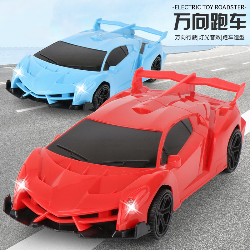 Hot Sales Children New Products Model Electric Universal Sports Car Light Included Light Music Boy Race Car Model Toy
