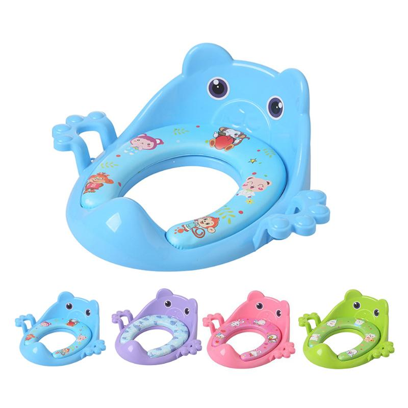 Cartoon Baby Trainers Toilet Potty Seat Cushion With Armrest Portable Outdoor Travel Infant Children Toilet Training Ring Pad