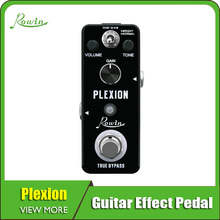 Rowin Plexion Distortion Pedal For Guitar And Bass With Bright Normal Mode