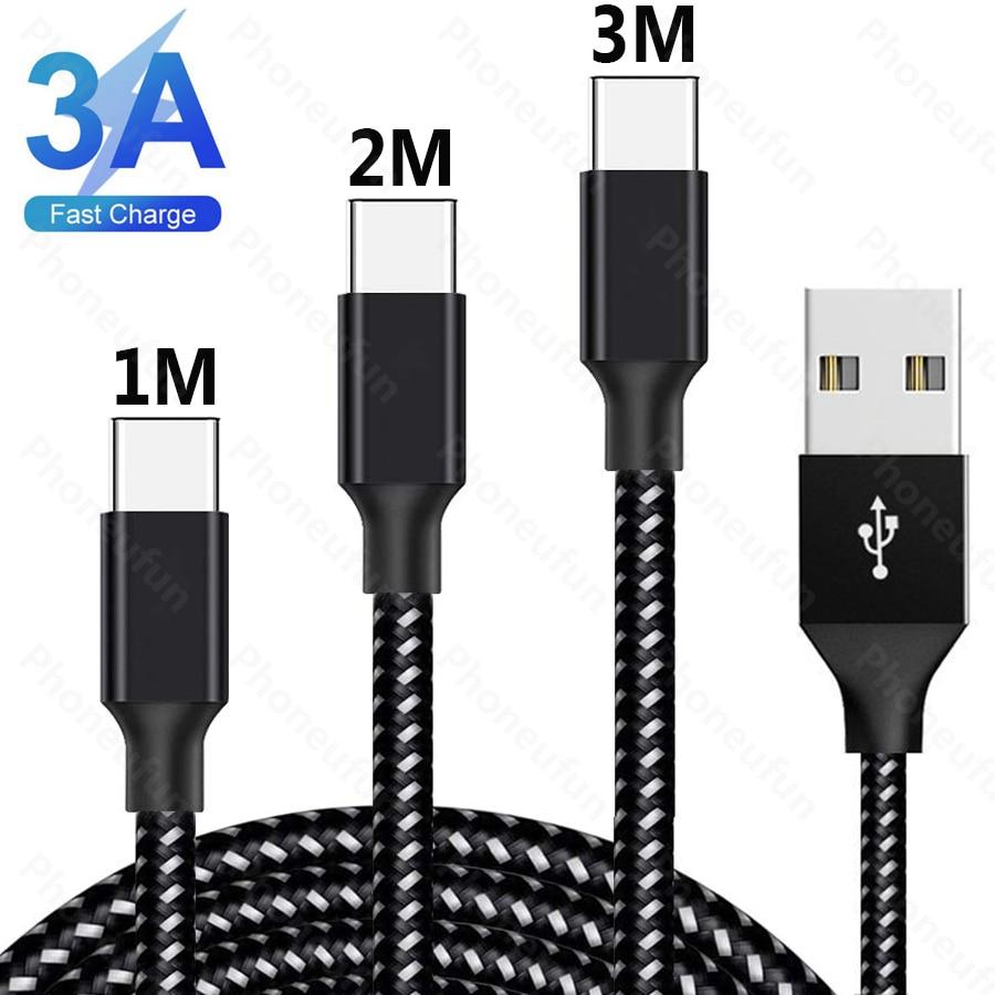 1 м 2 м 3 м 3A USB Type C кабель для быстрой зарядки телефона Redmi Note 8T 8 7 Pro K30 K20 Pro 9V 12V 200CM 300CM 2 3 длинный метр