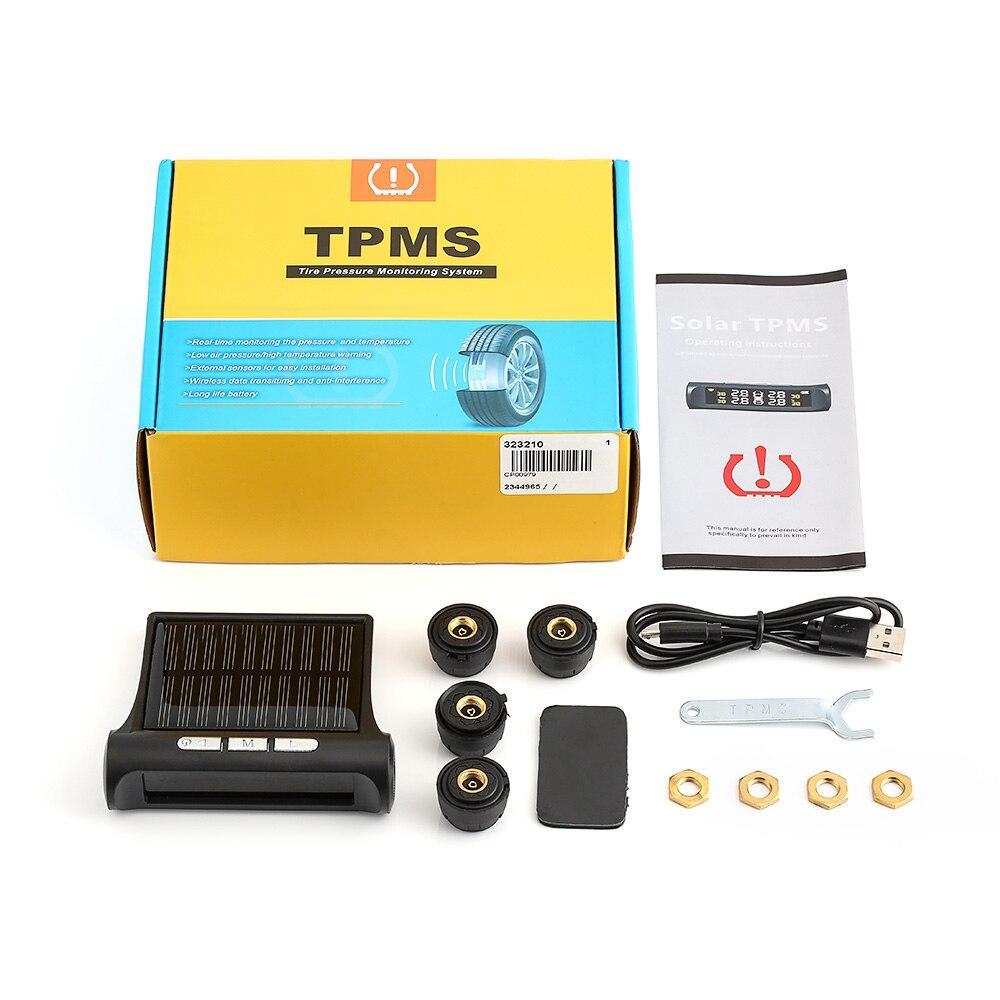 Auto TPMS Reifendruck Überwachung Reifendruck Tester mit Solar Power Lade System Digital LCD Display Auto Sicherheit Alarm