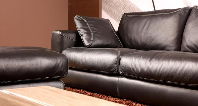 Genuine Leather L Shaped Corner Sofa 3