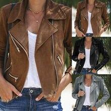 Куртка-бомбер женская замшевая, тонкая приталенная летная куртка, повседневный Топ, верхняя одежда