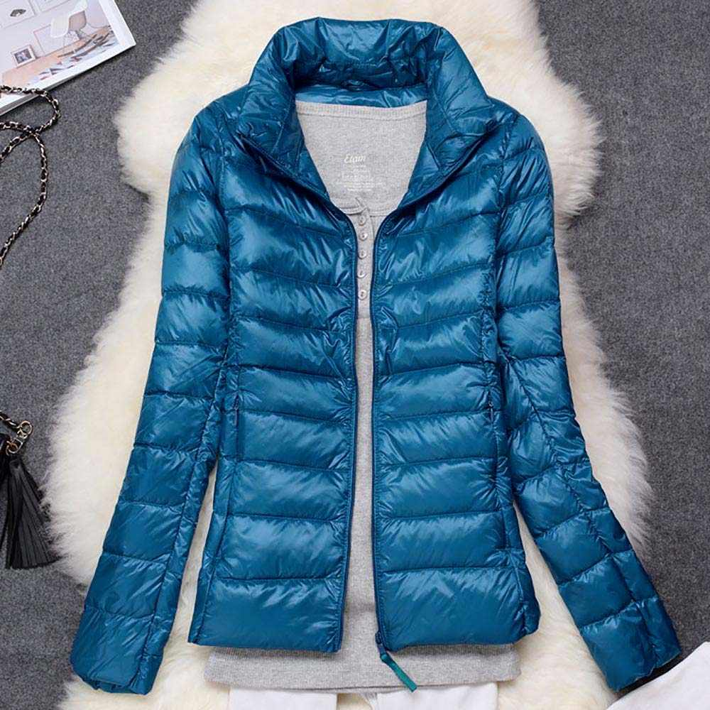 Plus Size 5XL 6XL Winter Vrouwen Ultra Light Down Jacket Duck Down Jassen Lange Mouw Warme Slanke Jas Parka Effen portabl Uitloper
